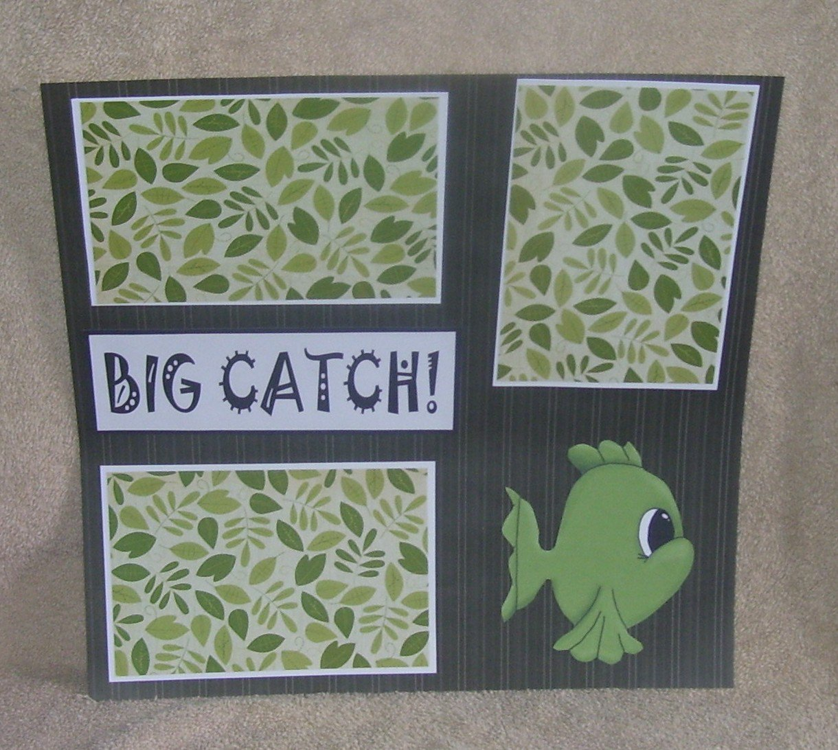 """Big Catch""-Premade Scrapbook Page 12x12"
