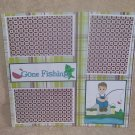 """Gone Fishing Boy bl""-Premade Scrapbook Page 12x12"