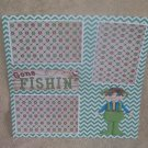 """Gone Fishing Guy""-Premade Scrapbook Page 12x12"