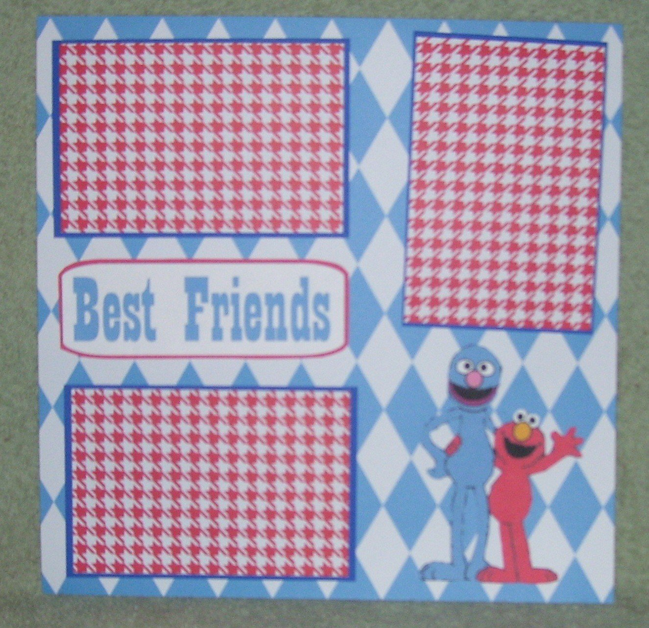 """Best Friends ss""-Premade Scrapbook Page 12x12"