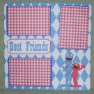 """Best Friends ss""-Premade Scrapbook Page 12x12"