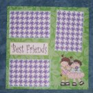 """Best Friends""-Premade Scrapbook Page 12x12"