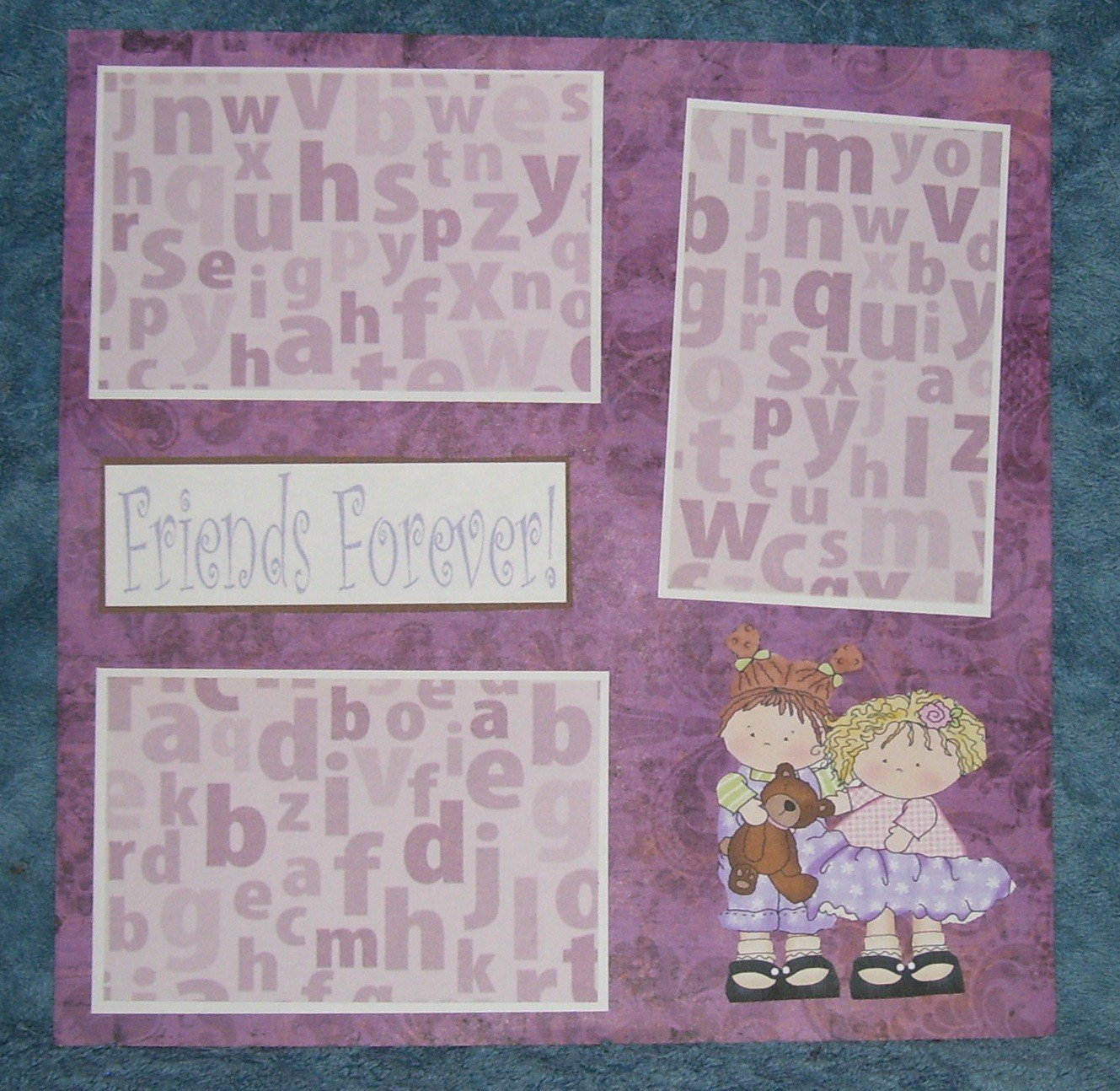 """""""Friends Forever cs""""-Premade Scrapbook Page 12x12"""