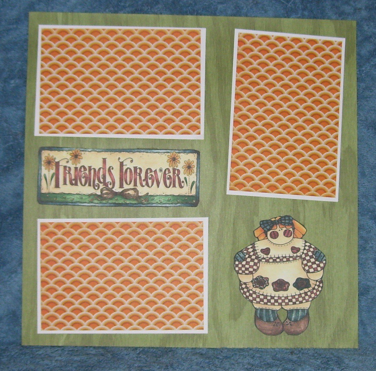 """""""Friends Forever""""-Premade Scrapbook Page 12x12"""