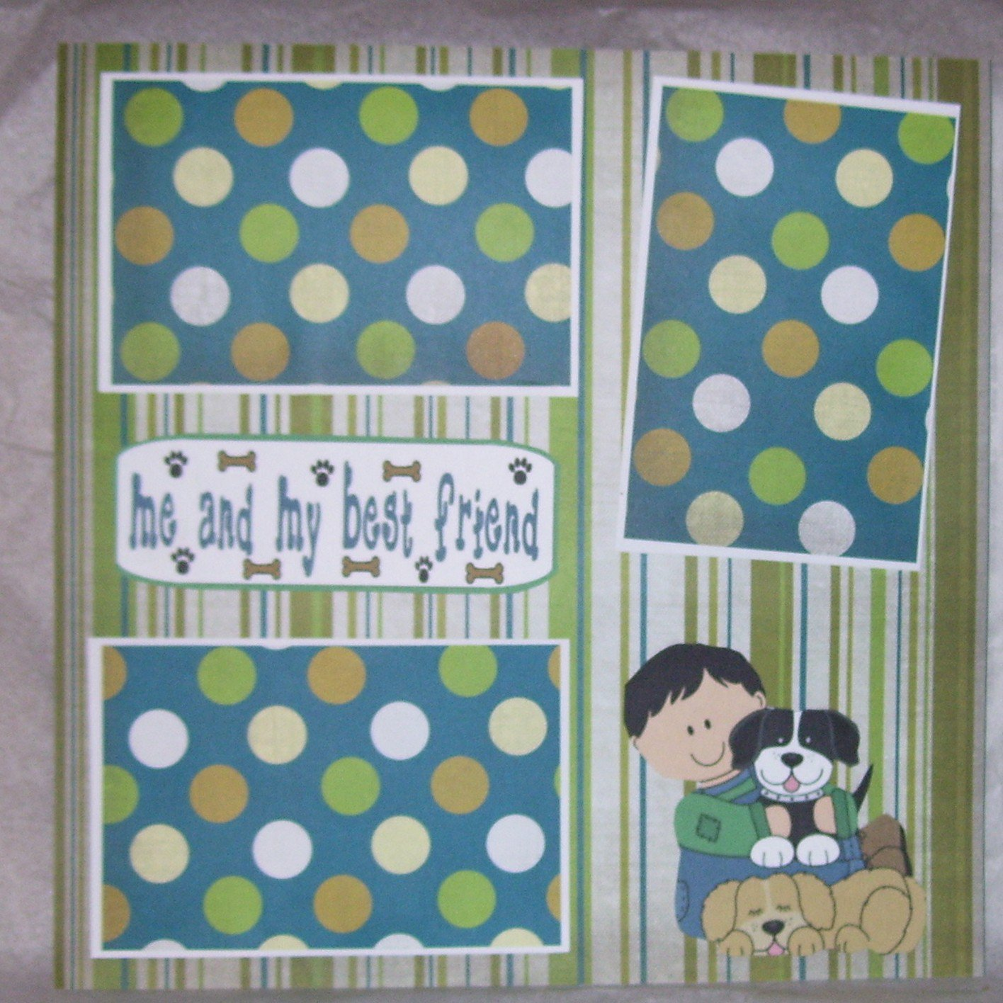 """""""Me and My Best Friend""""-Premade Scrapbook Page 12x12"""