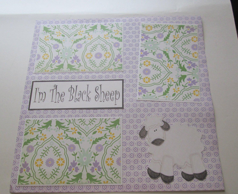 """I'm The Black Sheep""-Premade Scrapbook Page 12x12"
