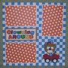 """Clowning Around 1""-Premade Scrapbook Page 12x12"