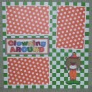 """Clowning Around 2""-Premade Scrapbook Page 12x12"