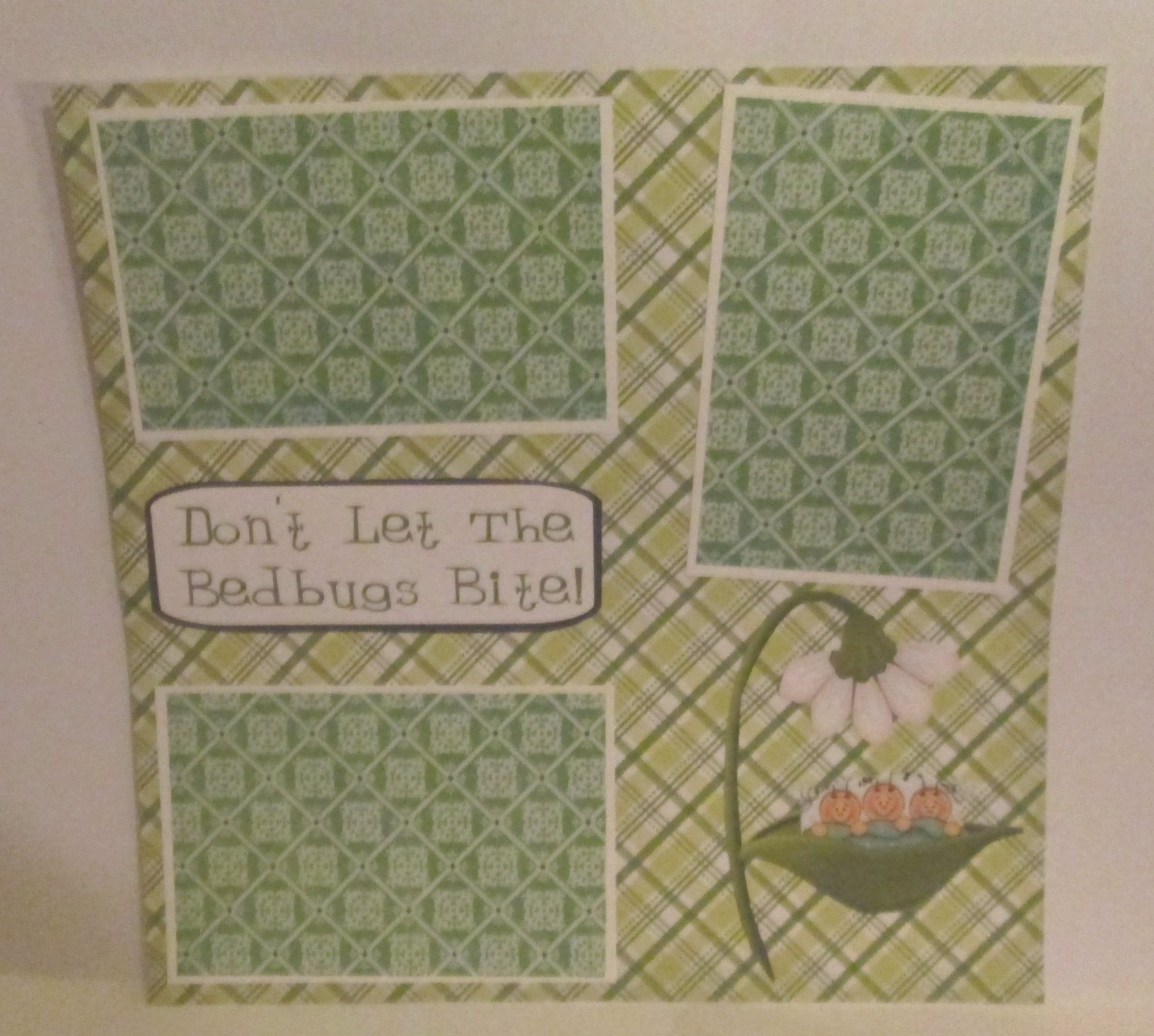 """""""Don't Let The Bedbugs Bite a""""-Premade Scrapbook Page 12x12"""