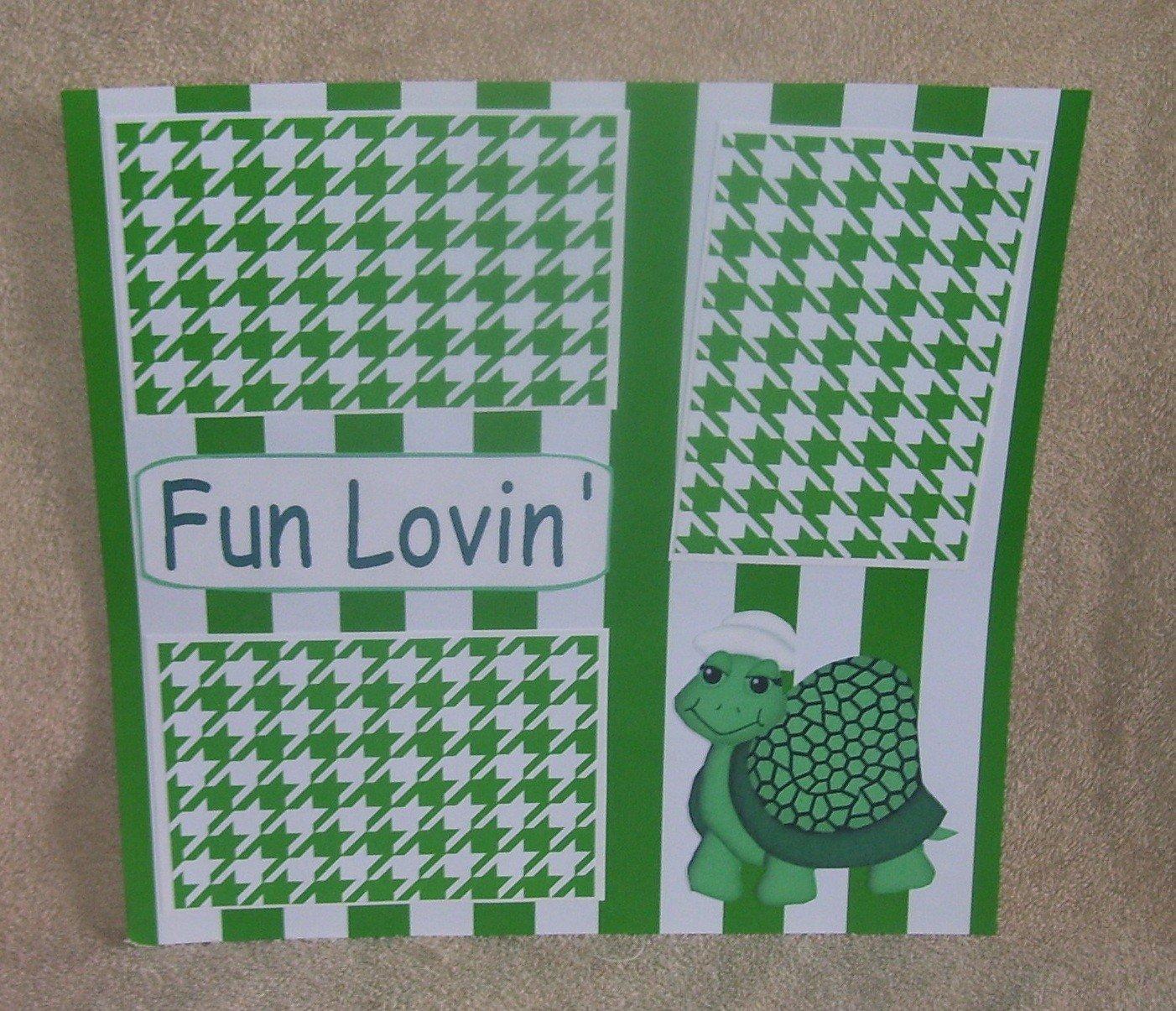 """""""Fun Lovin""""-Premade Scrapbook Page 12x12"""