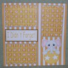 """I Didn't Forget""-Premade Scrapbook Page 12x12"