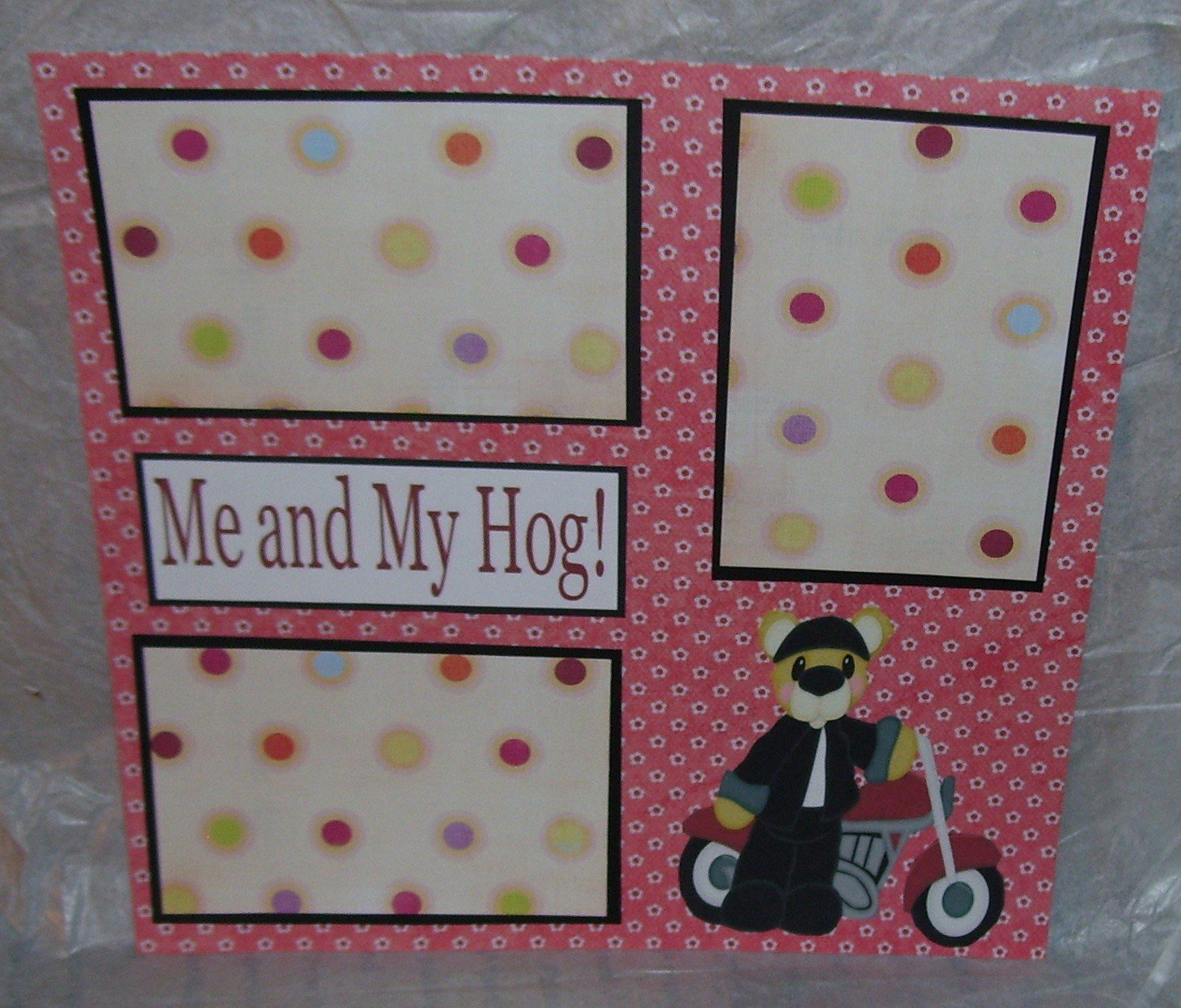"""""""Me and My Hog""""-Premade Scrapbook Page 12x12"""