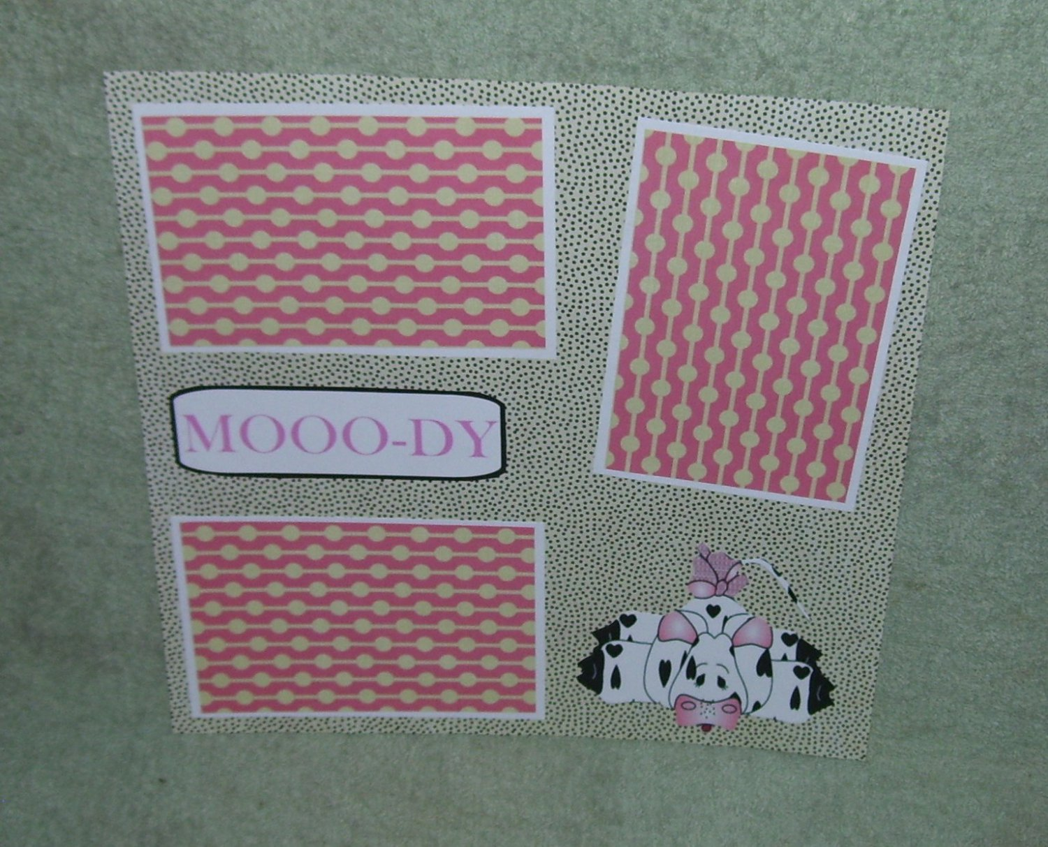 """""""Moody 2""""-Premade Scrapbook Page 12x12"""