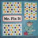 """Mr Fix It a""-Premade Scrapbook Page 12x12"