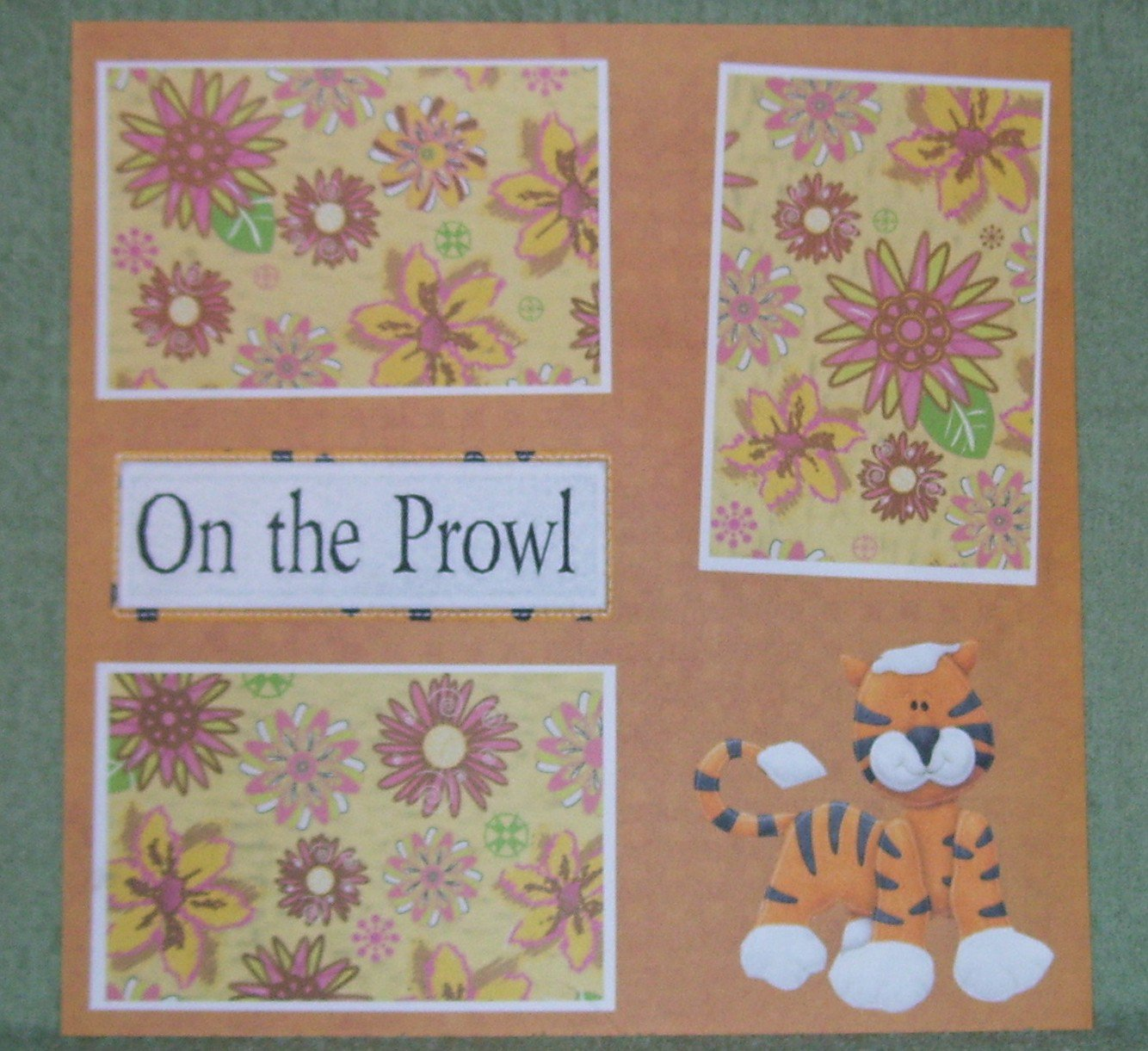 """""""On The Prowl nw""""-Premade Scrapbook Page 12x12"""
