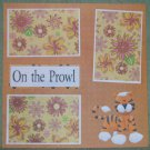 """On The Prowl nw""-Premade Scrapbook Page 12x12"