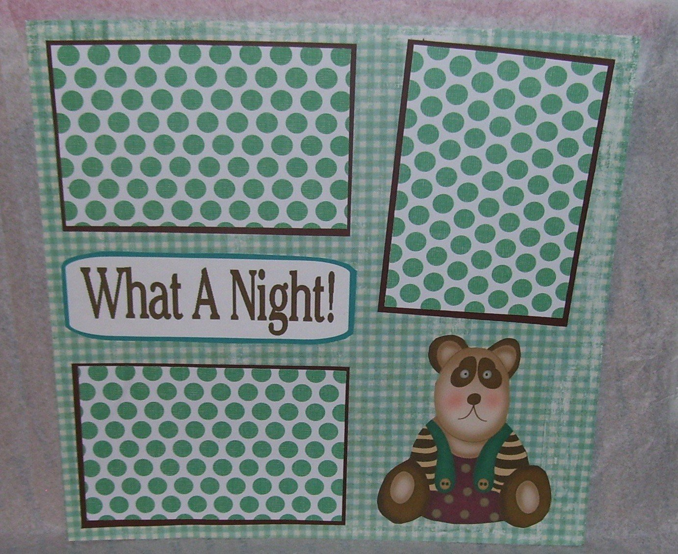"""""""What A Night 2""""-Premade Scrapbook Page 12x12"""