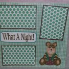 """What A Night 2""-Premade Scrapbook Page 12x12"