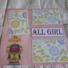 """All Girl Tween""-Premade Scrapbook Page 12x12"