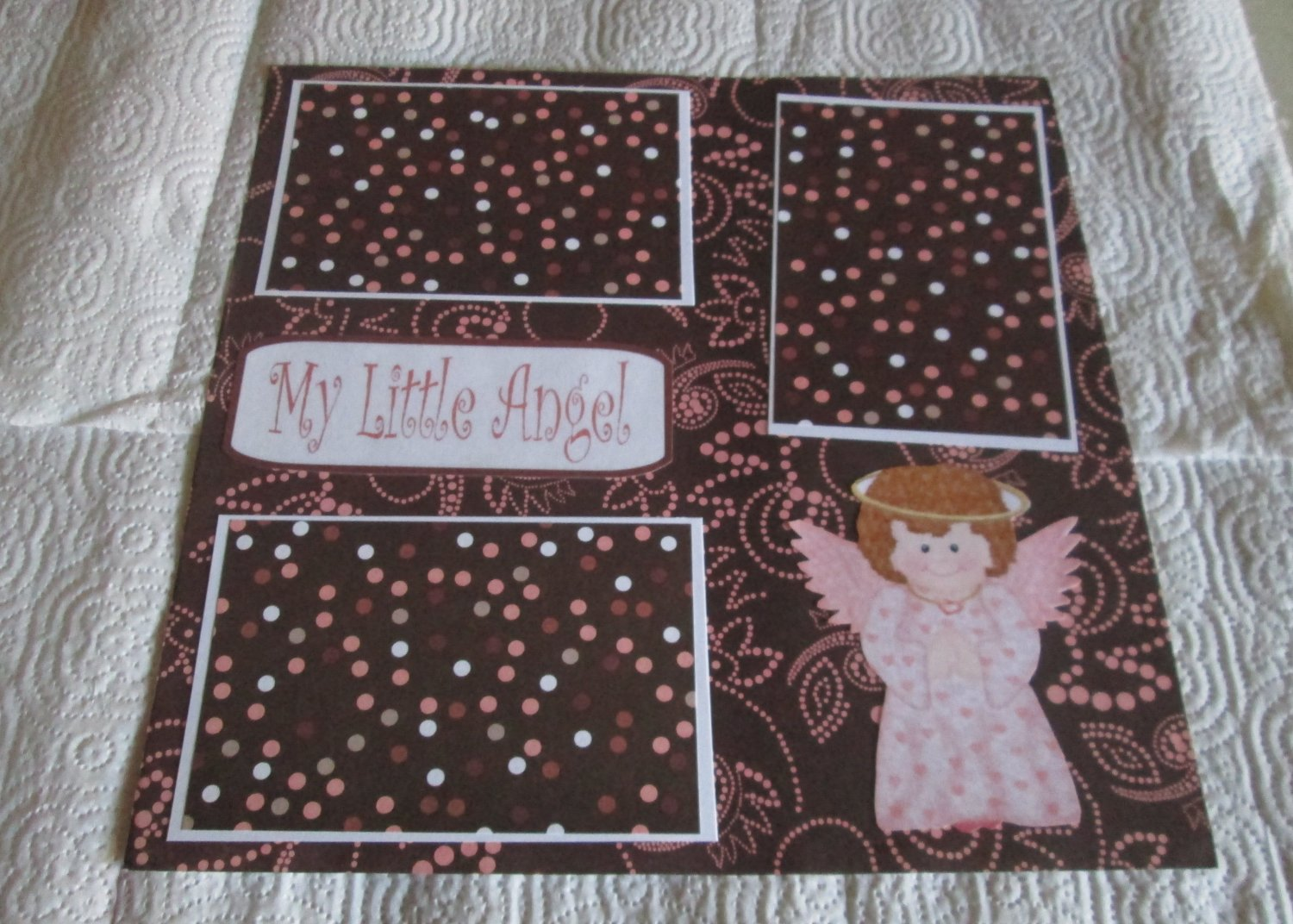 """My Little Angel Girl""-Premade Scrapbook Page 12x12"