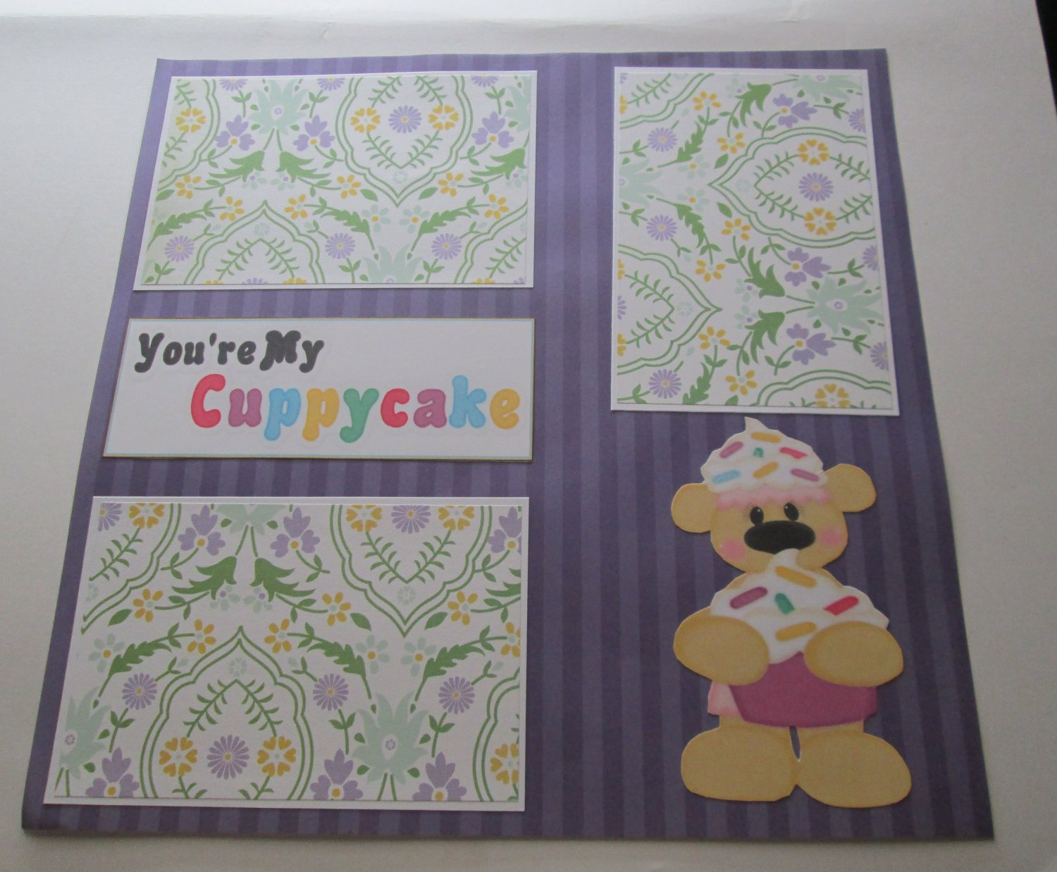 """You're My Cuppycake 2""-Premade Scrapbook Page 12x12"