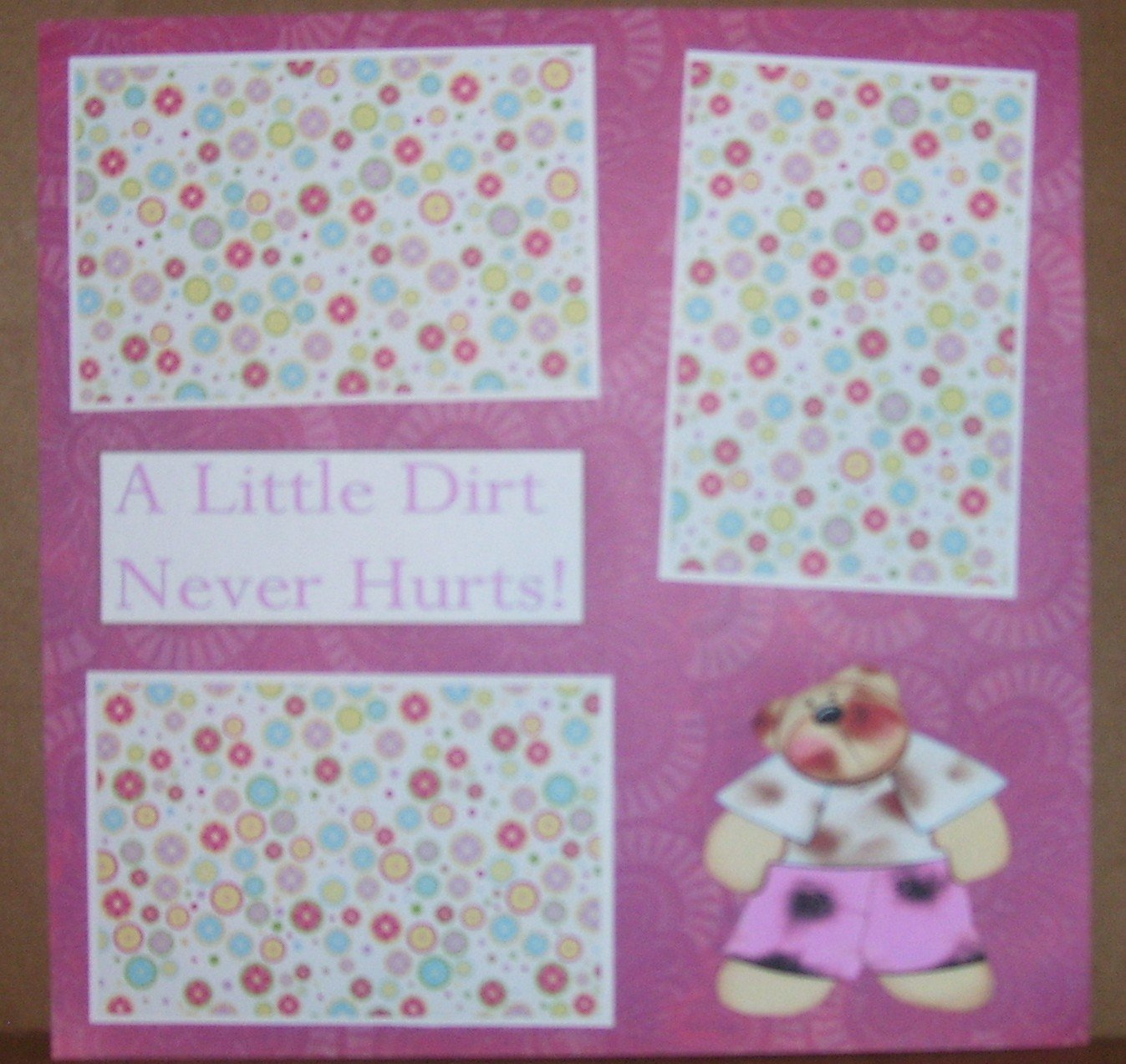 """A Little Dirt Girl""-Premade Scrapbook Page 12x12"