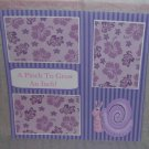 """A Pinch To Grow An Inch Girl a""-Premade Scrapbook Page 12x12"