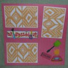 """All Dressed Up Nail Polish a""-Premade Scrapbook Page 12x12"