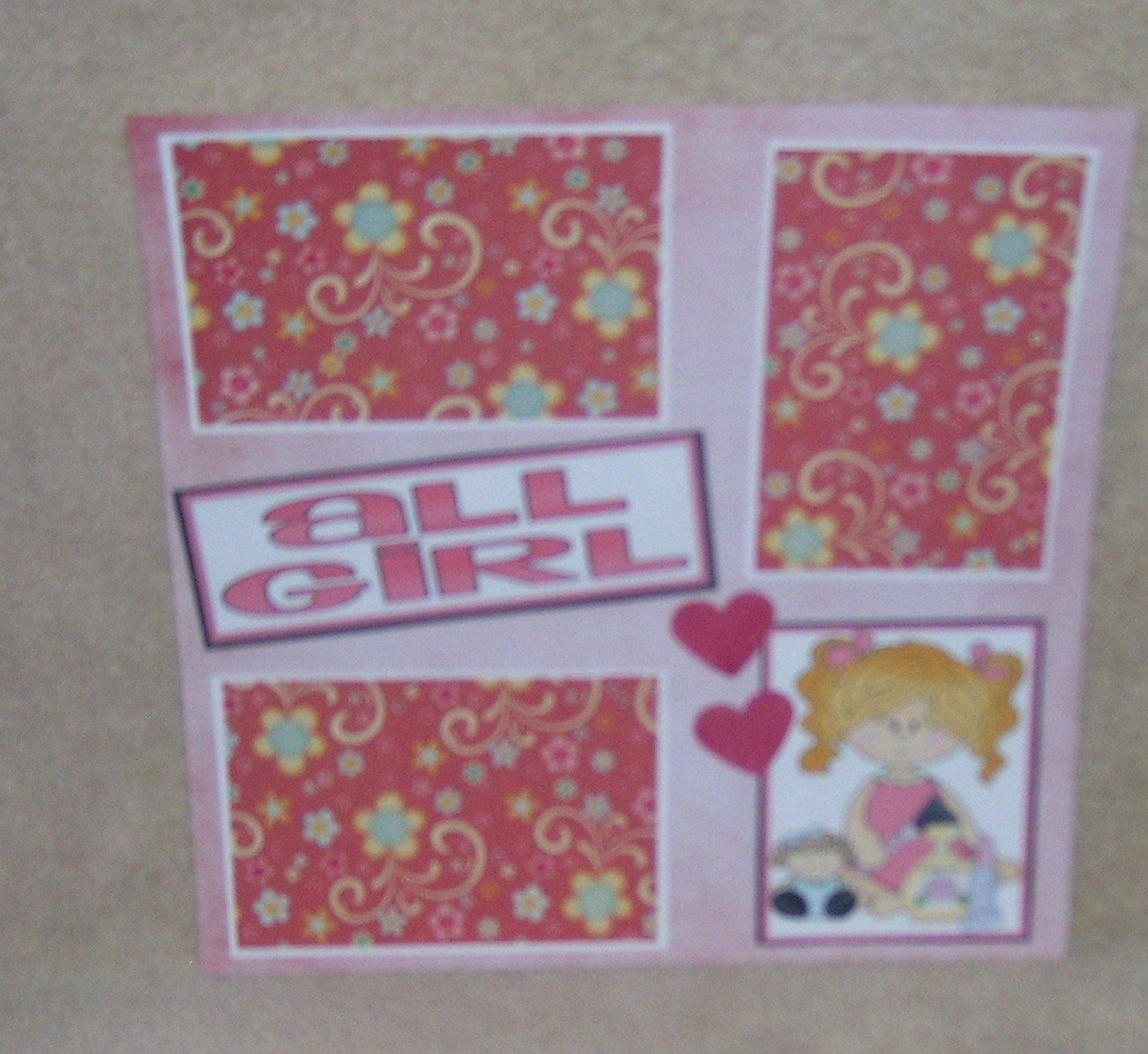 """All Girl""-Premade Scrapbook Page 12x12"