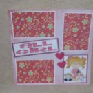 """""""All Girl""""-Premade Scrapbook Page 12x12"""