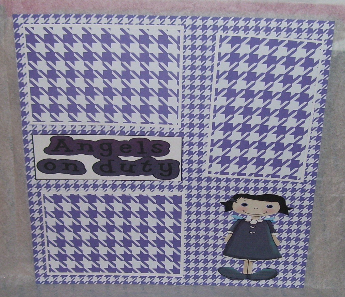 """""""Angels On Duty""""-Premade Scrapbook Page 12x12"""