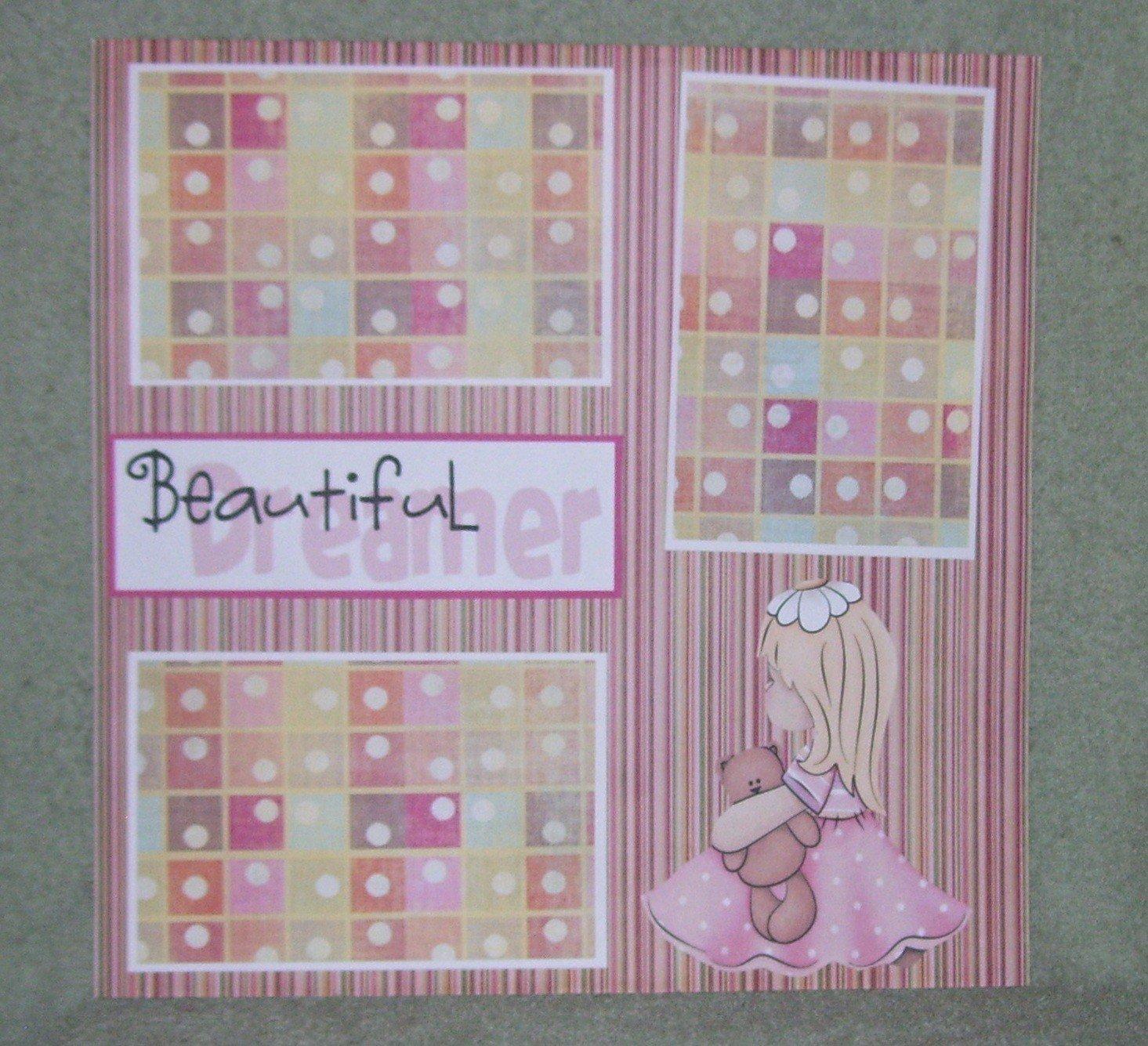 """Beautiful Dreamer tc""-Premade Scrapbook Page 12x12"