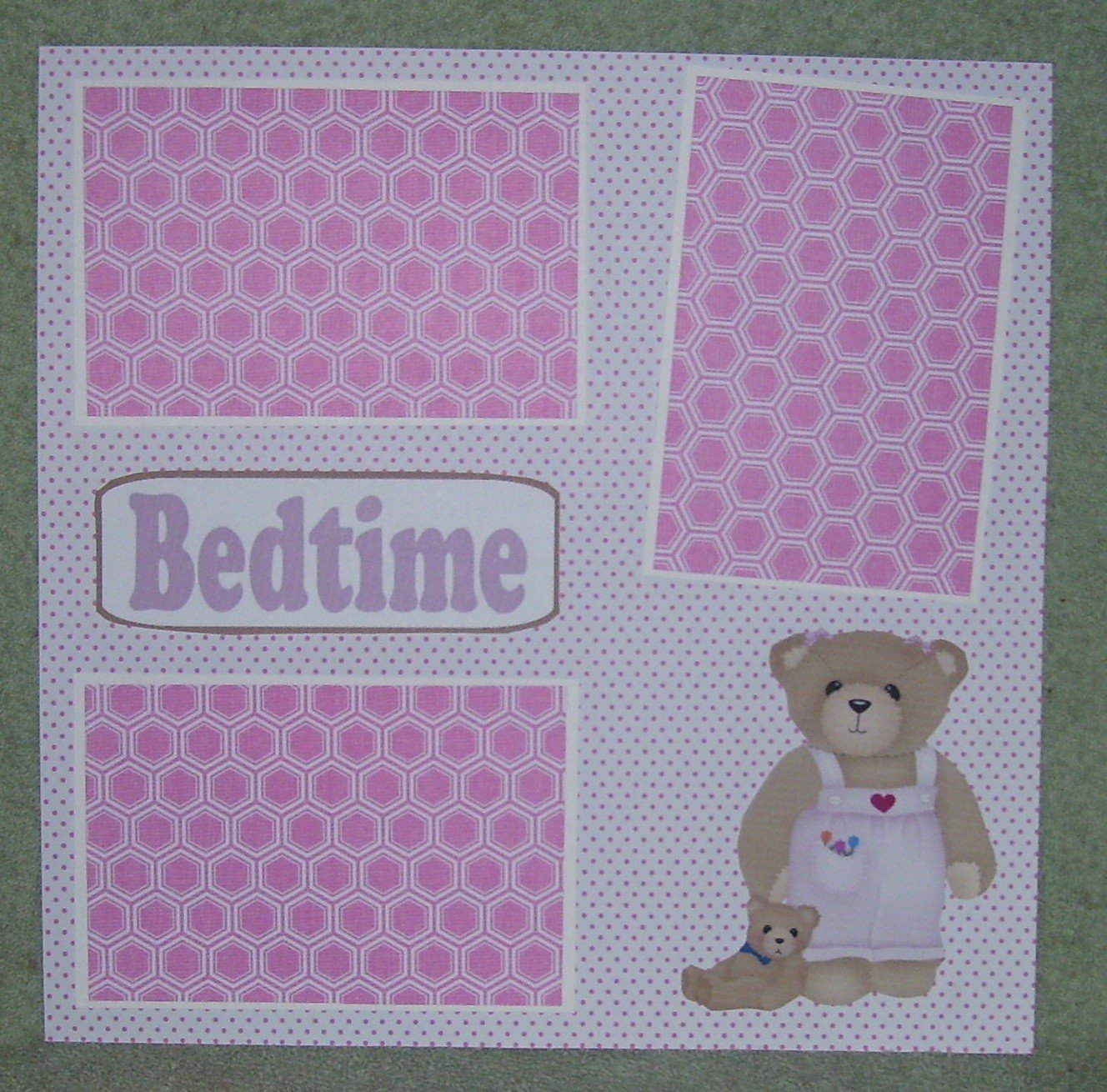 """""""Bedtime Girl""""-Premade Scrapbook Page 12x12"""