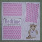 """Bedtime Girl""-Premade Scrapbook Page 12x12"