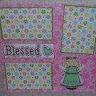 """""""Blessed Angel""""-Premade Scrapbook Page 12x12"""