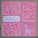 """Dino Mite Girl""-Premade Scrapbook Page 12x12"