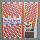 """Fast Food Burgers Girl""-Premade Scrapbook Page 12x12"