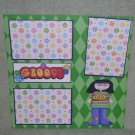 """""""Groovy Girl""""-Premade Scrapbook Page 12x12"""