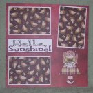 """Hello Sunshine tc""-Premade Scrapbook Page 12x12"