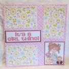 """It's A Girl Thing bl""-Premade Scrapbook Page 12x12"