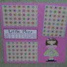 """Little Miss Attitude""-Premade Scrapbook Page 12x12"