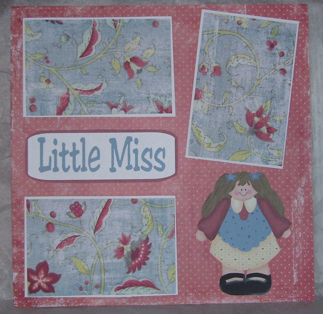 """Little Miss""-Premade Scrapbook Page 12x12"