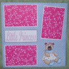 """Little Princess""-Premade Scrapbook Page 12x12"