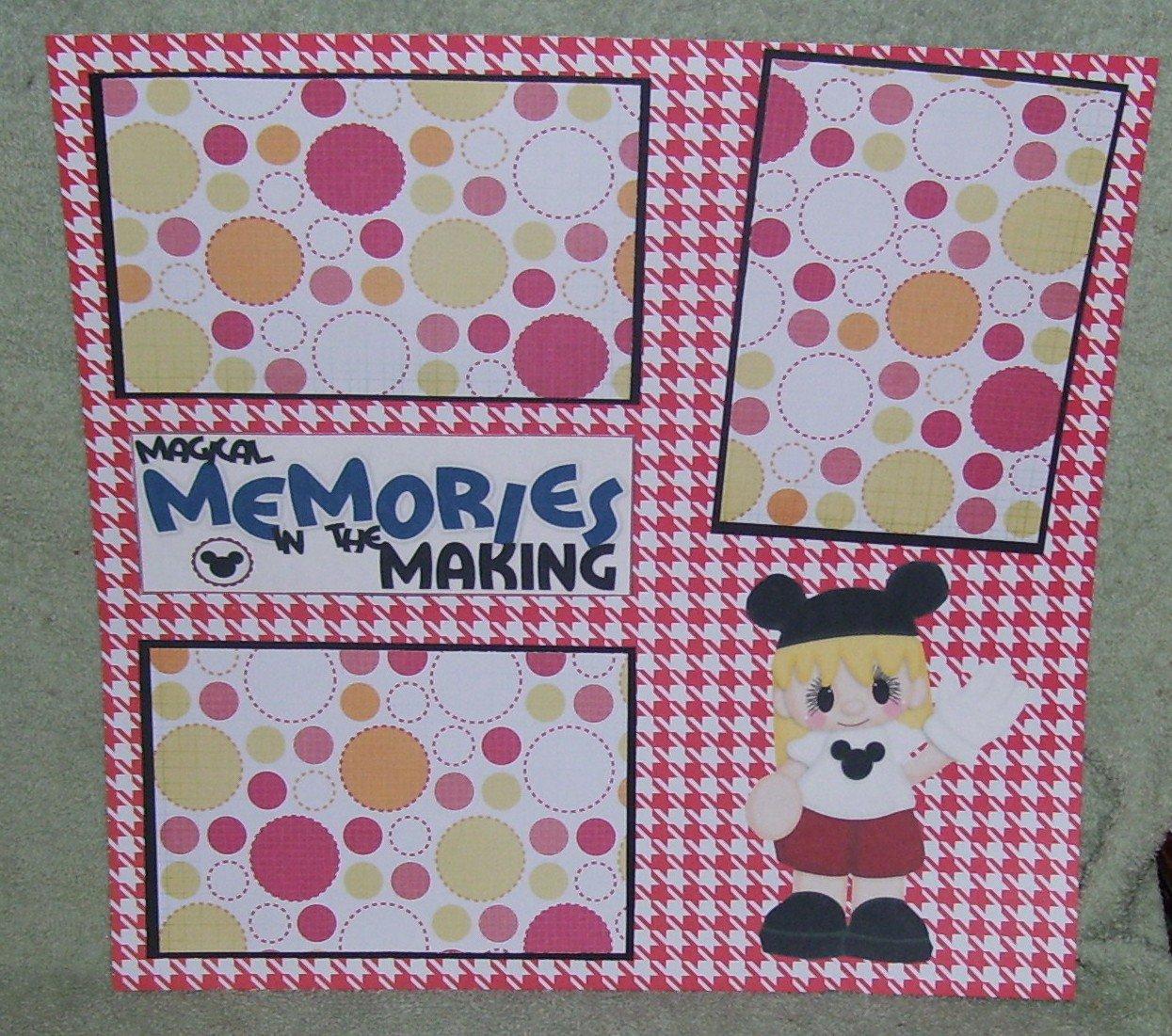 """Magical Memories Girl""-Premade Scrapbook Page 12x12"