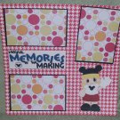 """Magical Memories Girl""-Premade Scrapbook Page 12x12"