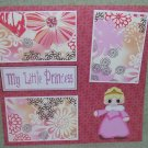 """My Little Princess 2""-Premade Scrapbook Page 12x12"