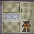 """""""My New Bathing Suit""""-Premade Scrapbook Page 12x12"""