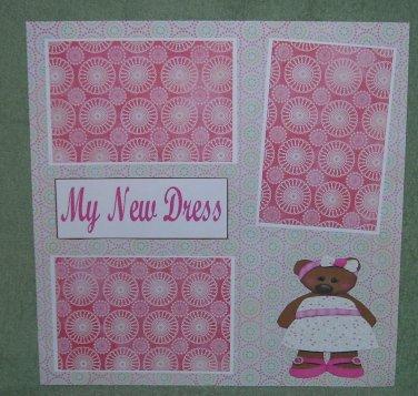 """My New Dress""-Premade Scrapbook Page 12x12"