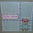 """My New Jammies""-Premade Scrapbook Page 12x12"