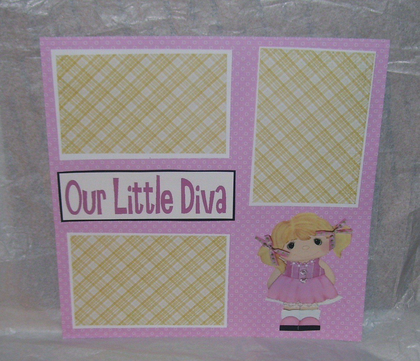 """Our Little Diva""-Premade Scrapbook Page 12x12"